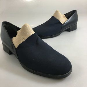 Munro American 7.5 M Blue Fabric Leather Loafers